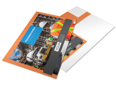 Construction Safety Postcard Template 2