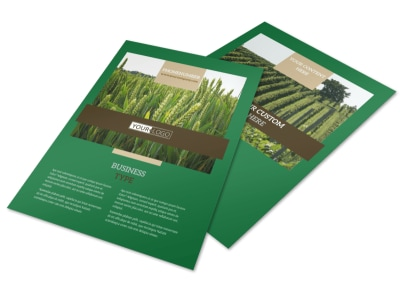 Farming & Agriculture Flyer Template