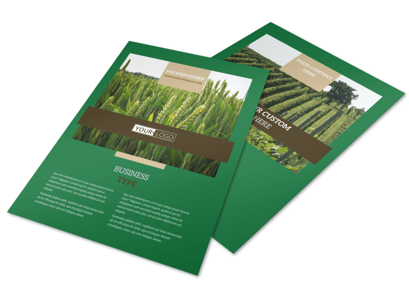Farm Consultants Flyer Template Preview 1