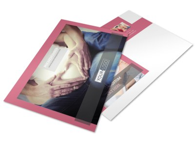 Pregnancy Postcard Template preview