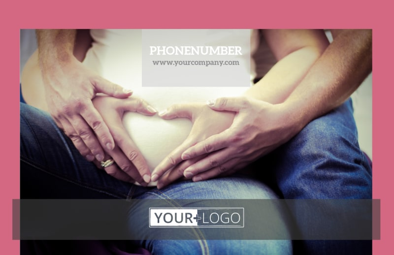 Pregnancy Counseling Center Postcard Template Preview 2