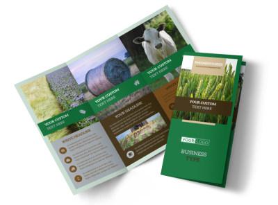 Farming & Agriculture Tri-Fold Brochure Template