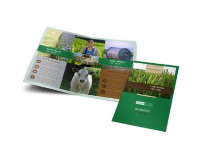 Farming & Agriculture Bi-Fold Brochure Template
