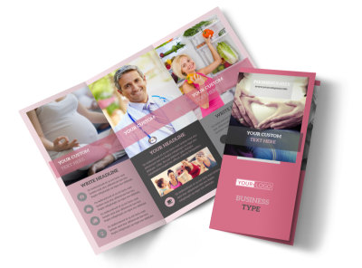 Pregnancy Tri-Fold Brochure Template preview