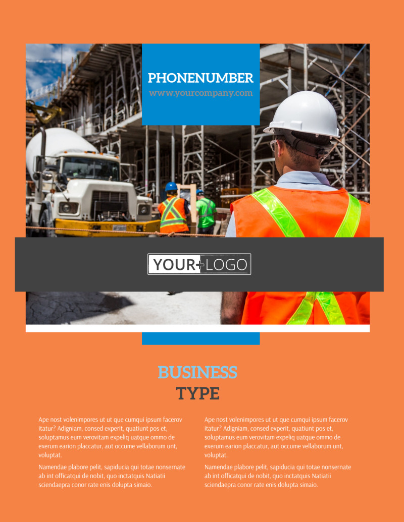 Construction Safety Flyer Template Preview 2