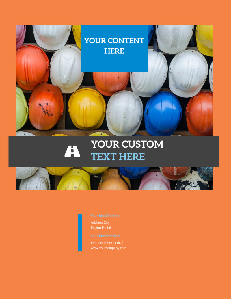 Construction Safety Flyer Template Preview 3