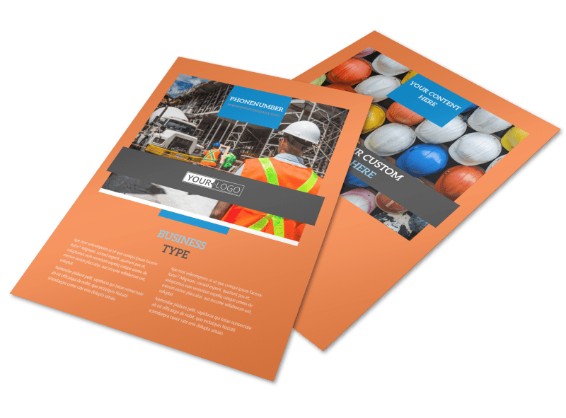 Construction Safety Flyer Template Preview 1