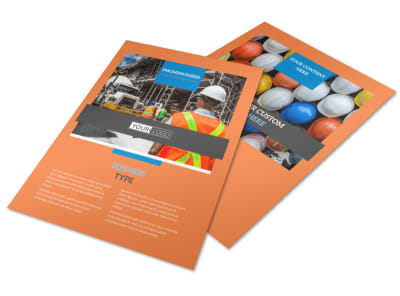 Construction Safety Flyer Template preview