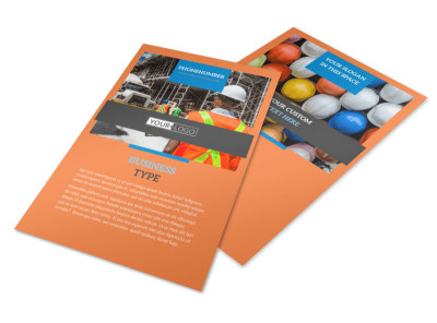 Construction Safety Flyer Template 3