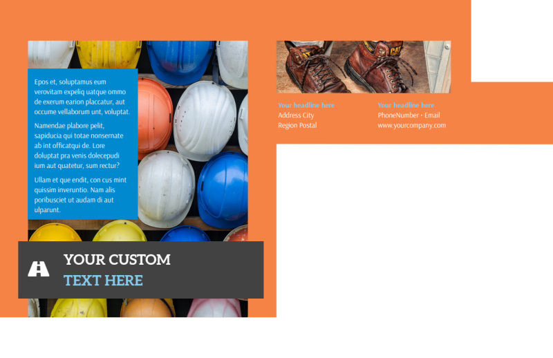 Construction Safety Postcard Template Preview 3