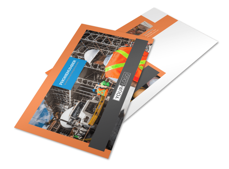 Construction Safety Postcard Template Preview 1
