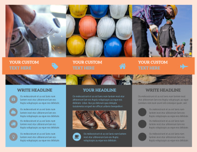 Construction Safety Brochure Template Preview 2
