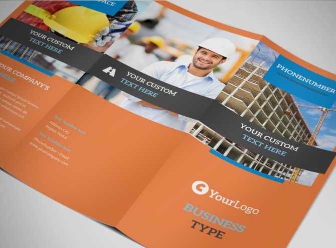 construction safety tri fold brochure template. Black Bedroom Furniture Sets. Home Design Ideas