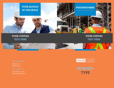 Construction Safety Brochure Template Preview 1