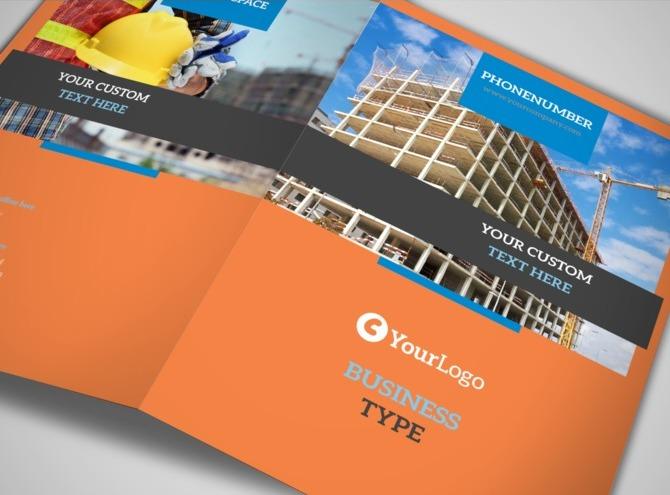 construction safety bi fold brochure template. Black Bedroom Furniture Sets. Home Design Ideas