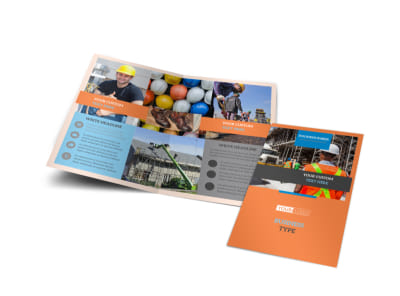 Construction Safety Bi-Fold Brochure Template preview