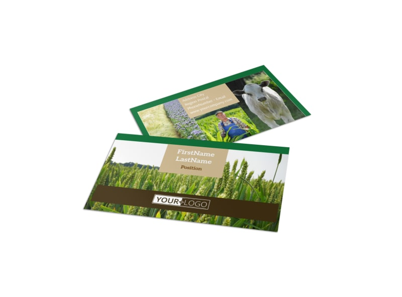 Farming & Agriculture Business Card Template