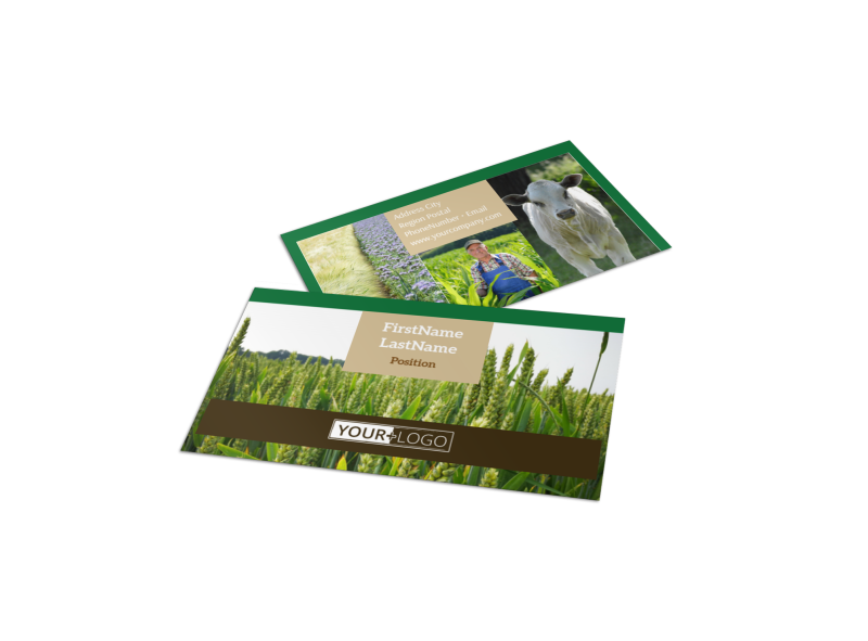 Farm Consultants Business Card Template Preview 1