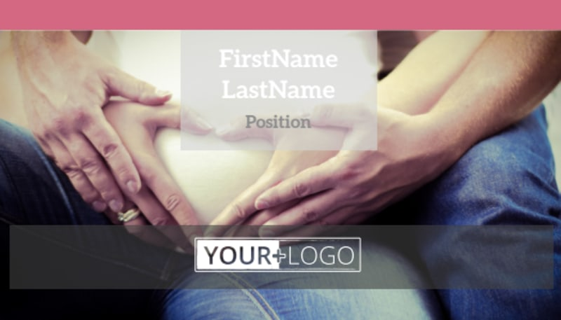 Pregnancy Counseling Center Business Card Template Preview 2