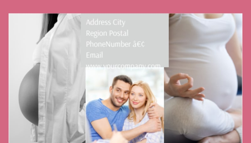 Pregnancy Counseling Center Business Card Template Preview 3