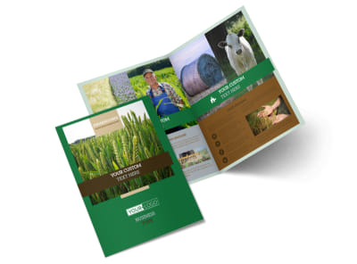 Farming & Agriculture Brochure Template 2