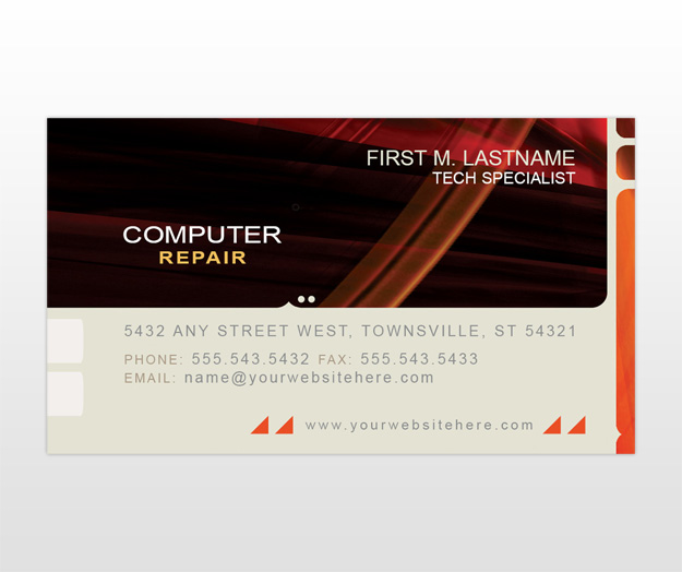 Computer Repair Business Card Templates |MyCreativeShop.com